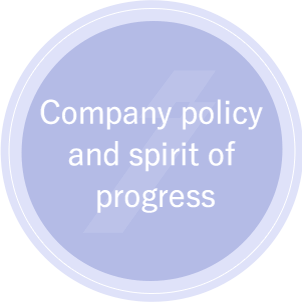 Company policy and spirit of progress